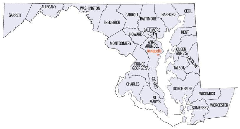 Maryland Home Inspection Counties