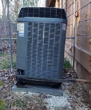 AC Condenser Not Level Found by Westminster Home Inspector
