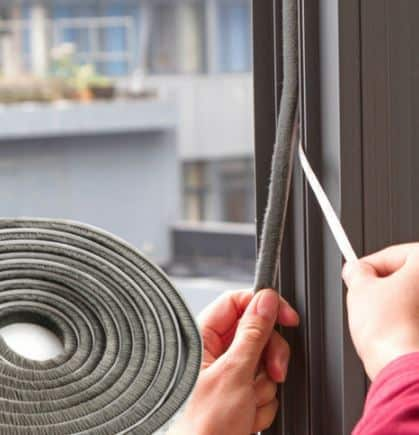 Weatherstripping prevent energy loss